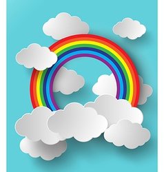 Rainbow and cloud vector