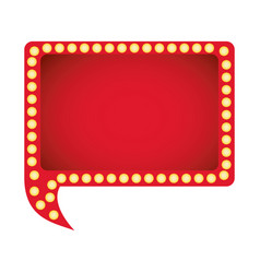 Red rectangle chat bubble icon vector