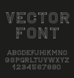 Retro alphabet font vector