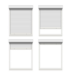 Rolling shutters white metallic roller vector