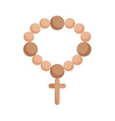 rosary catholic faith mexico icon vector image