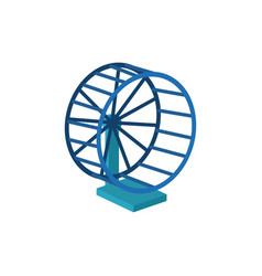 running wheel for hamster icon vector image