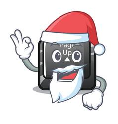 Santa button page up keyboard mascot vector