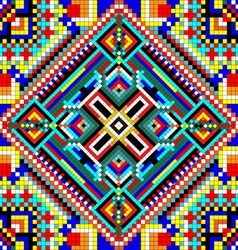 seamless mosaic of geometric ornament with squares vector image