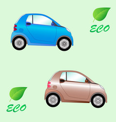 set of environmentally friendly electric cars vector image