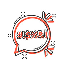 Shout speech bubble icon in comic style complain vector