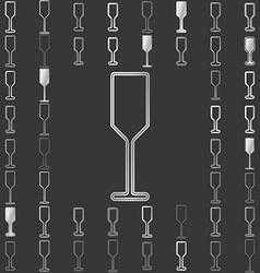 Silver line bar icon design set vector image