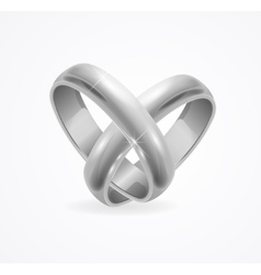 Silver Wedding Ring vector