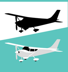 Small private plane vector