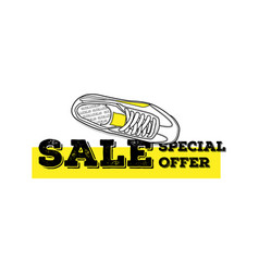 sneaker sale special offer isolated vector image