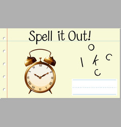 Spell it out clock vector