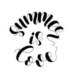 summer is love lettering vector image
