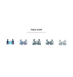 Table game icon in different style two colored vector