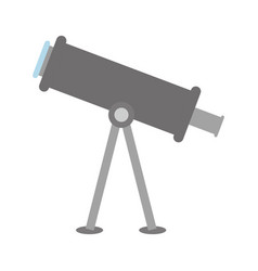 telescope tool icon vector image