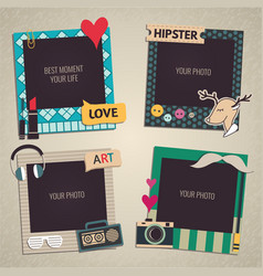 Template Photo frame vector