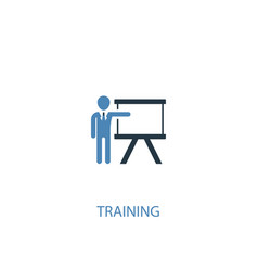 Training concept 2 colored icon simple blue vector