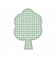 Tree of fabric handcraft Cute Baby Style vector