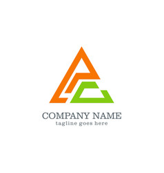 triangle abstract colored company logo vector image