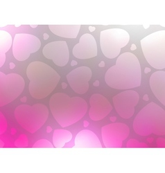 Valentine hearts pink StValentines day EPS 8 vector image vector image