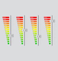 Vertical volume sliders from minimum to maximum vector