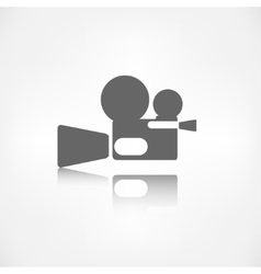 Video camera icon Media symbol vector