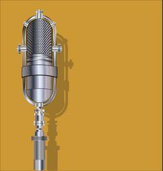 vintage silver microphone vector image