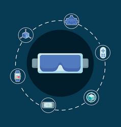 virtual reality design vector image