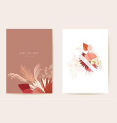 Watercolor orchid pampas grass lunaria floral vector
