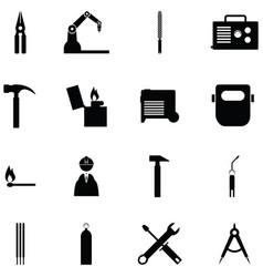 Welding icon set vector