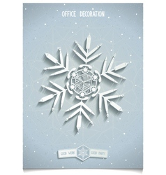White office snowflake vector
