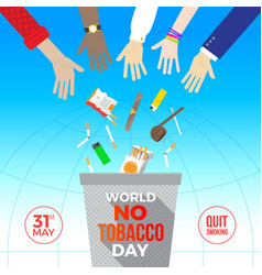 world no tobacco day - concept vector image