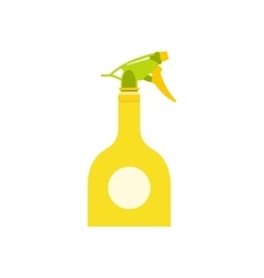 Yellow sprayer bottle vector image