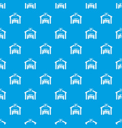 car parking pattern seamless blue vector image