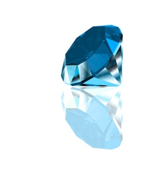 Diamond on a blue background vector image vector image