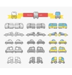 Electric Car Bus Concept Design Linear vector image vector image