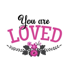 Greeting Card with lettering vector image vector image
