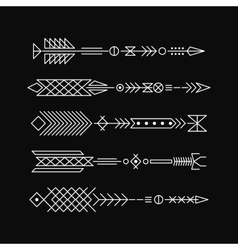 Hipster arrows Abstract elements for tattoo and vector image vector image