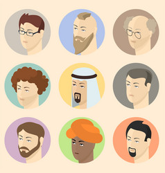 isometric people heads vector image