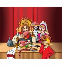 Lord's feast vector