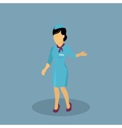 Profession Icon Stewardess Design Flat Style vector image