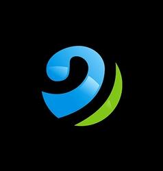 sphere globe communication logo vector image