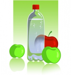 apples and mineral water vector image vector image