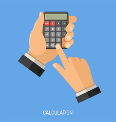calculation and counting concept vector image vector image