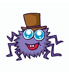 funny spider cartoon for t-shirt design vector image