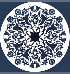 laser cut floral arabesque circle ornament vector image