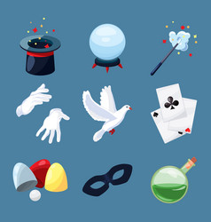 magician icons set surprise vector image vector image