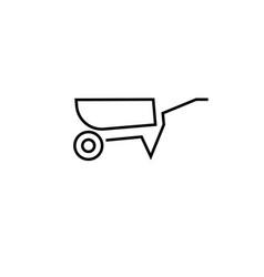 wheelbarrow icon vector image vector image
