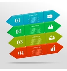3D infographic banner vector image vector image