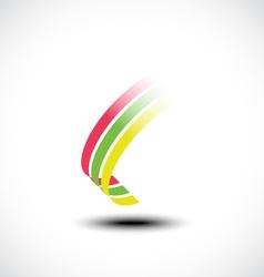 Abstract ribbon icon vector