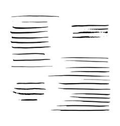 black mascara brush vector image